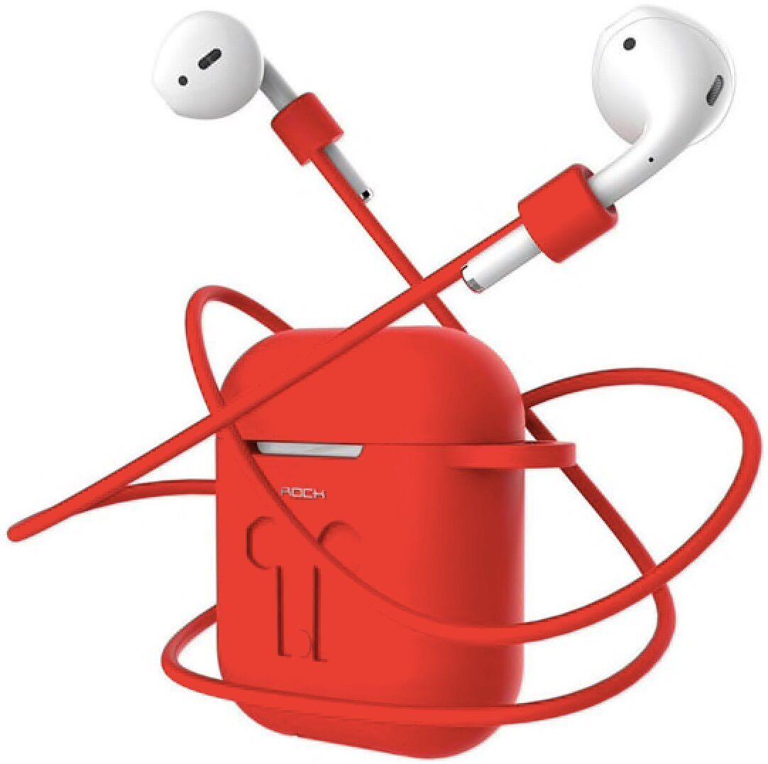 Силіконовий чохол + тримач для AirPods Rock Carrying Case (red ... 2dda3631b156f