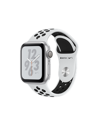 Apple Watch Series 4 Nike+ (GPS) 40mm Silver Aluminum Case with Pure Platinum/Black Nike Sport Band (MU6H2)