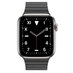 Apple Watch Series 5 Edition 44mm Titanium Case with Black Leather Loop (MWR62+MXAA2)