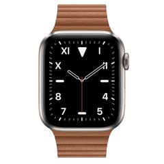 Apple Watch Series 5 Edition 44mm Titanium Case with Brown Leather Loop (MWR62+MXAF2)