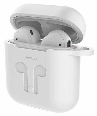 Силіконовий чохол і тримач Rock для AirPods Carrying Case (white ... 9135f6dfe79a8