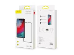Захисне скло Baseus Full Tempered Glass Protector 0.3mm для iPhone XS Max Black (SGAPIPH65-KC01)