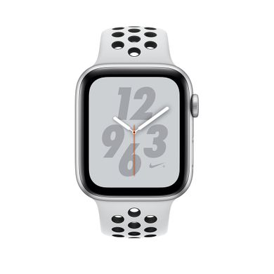 Apple Watch Series 4 Nike+ (GPS+LTE) 40mm Silver Aluminum Case with Pure Platinum/Black Nike Sport Band (MTV92)