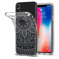 5c8445487508 Комфортный кейс для iPhone X Spigen Liquid Crystal кристально чистый