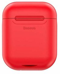 Чехол с беспроводной зарядкой BASEUS Wireless Charger for AirPods (RED) (WIAPPOD-09)