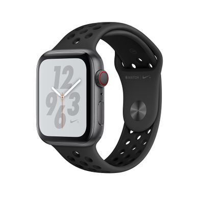 Apple Watch Series 4 Nike+ (GPS+LTE) 44mm Space Gray Aluminum Case with Anthracite/Black Nike Sport Band (MTXE2)