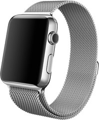Ремешок для Apple Watch 38/40 mm Milanese Loop Band Silver (High Copy)