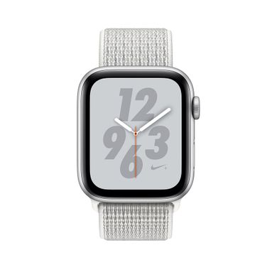 Apple Watch Series 4 Nike+ (GPS+LTE) 40mm Silver Aluminum Case with Summit White Nike Sport Loop (MTX72)