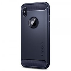 Чехол Spigen Rugged Armor синий для iPhone X