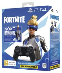 Геймпад Sony DualShock 4 Black + Fortnite