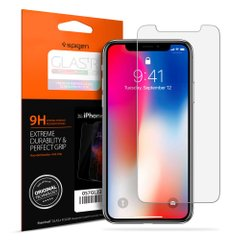 Міцне прозоре скло Spigen Screen Protector Glass для IPhone Х/XS
