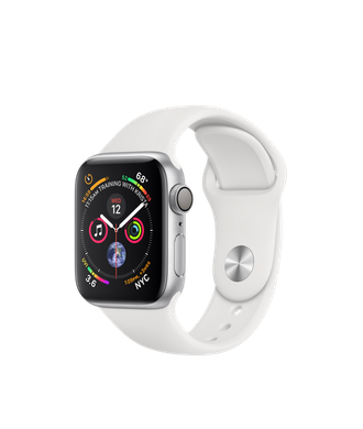 Apple Watch Series 4 (GPS) 40mm Silver Aluminum Case with White Sport Band (MU642)