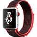 Apple Watch Series 3 Nike+ (GPS+LTE) 38mm Silver Aluminum Case with Bright Crimson/Black Nike Sport Loop (MQL72)