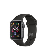 Apple Watch Series 4 (GPS) 40mm Space Gray Aluminum Case with Black Sport Band (MU662)