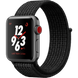 Apple Watch Series 3 Nike+ (GPS+LTE) 38mm Space Gray Aluminum Case with Black/Pure Platinum Nike Sport Loop (MQL82)