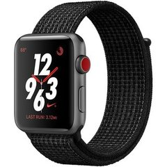 Apple Watch Series 3 Nike+ (GPS+LTE) 42mm Space Gray Aluminum Case with Black/Pure Platinum Nike Sport Loop (MQLF2)
