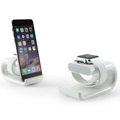 Док-станция HAPTIME Dock Station for Apple Watch and iPhone (2in1) White