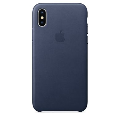 "Чехол из эко-кожи Apple ""Midnight Blue"" для iPhone X (MQTC2)"