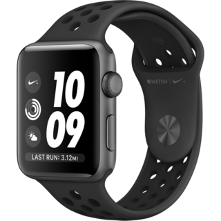 Apple Watch Series 3 Nike+ (GPS) 42mm Space Gray Aluminum Case with Anthracite/Black Nike Sport Band (MQL42)