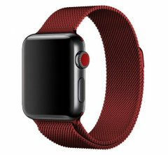 Ремешок для Apple Watch 38/40 mm Milanese Loop Band Red (High Copy)