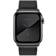 Apple Watch Hermes Series 5 LTE 44mm Space Black Stainless Steel with Noir Single Tour (MWWM2)