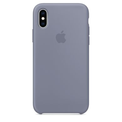 Чехол силиконовый Apple iPhone XS Silicone Case (MTFC2) Lavender Gray