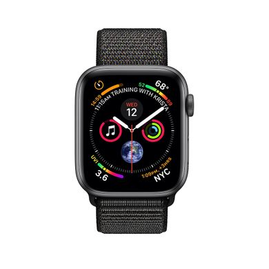 Apple Watch Series 4 (GPS) 44mm Space Gray Aluminum Case with Black Sport Loop (MU6E2)