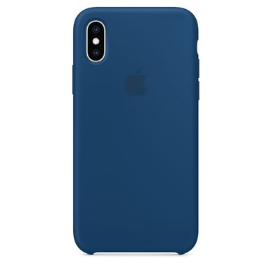 Чехол-накладка Apple синий для iPhone XS (MTF92)