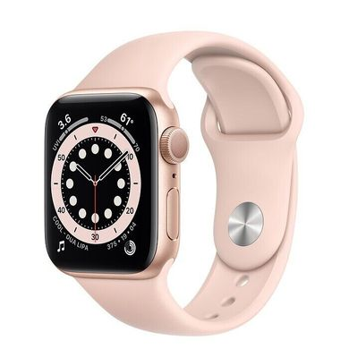 Apple Watch Series 6 44mm Gold Aluminum Case with Pink Sand Sport Band (M00E3)
