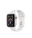 Apple Watch Series 4 (GPS+LTE) 40mm Silver Aluminum Case with White Sport Band (MTUD2)