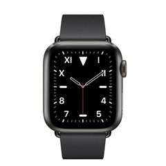Apple Watch Series 5 Edition GPS + Cellular 40mm Space Black Titanium Case with Black Modern Buckle (MWQD2)