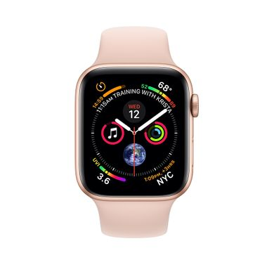 Apple Watch Series 4 (GPS+LTE) 40mm Gold Aluminum Case with Pink Sand Sport Band (MTUJ2)
