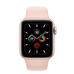 Apple Watch Series 5 (GPS) 40mm Gold Aluminum Case with Pink Sand Sport (MWV72)
