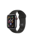 Apple Watch Series 4 (GPS+LTE) 40mm Space Gray Aluminum Case with Black Sport Band (MTUG2)