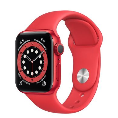 Apple Watch Series 6 40mm Red Aluminum Case with (PRODUCT) RED Sport Band (M00A3)