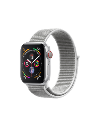 Apple Watch Series 4 (GPS+LTE) 40mm Silver Aluminum Case with Seashell Sport Loop (MTUF2)