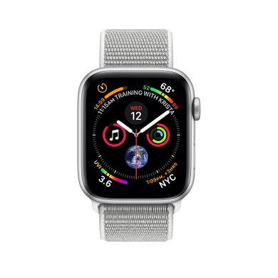 Apple Watch Series 4 (GPS+LTE) 44mm Silver Aluminum Case with Seashell Sport Loop (MTUV2)