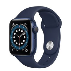 Apple Watch Series 6 44mm Blue Aluminum Case with Blue Sport Band (M00J3)