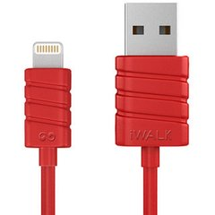 iWALK Lightning кабель для зарядки iPhone/iPad (8 pin) Red