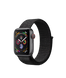 Apple Watch Series 4 (GPS+LTE) 40mm Space Gray Aluminum Case with Black Sport Loop (MTUH2)