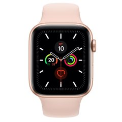 Apple Watch Series 5 (GPS) 44mm Gold Aluminum Case with Pink Sand Sport (MWVE2)
