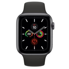 Apple Watch Series 5 (GPS) 44mm Space Gray Aluminum Case with Black Sport Band (MWVF2)