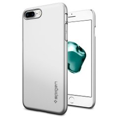 Чехол для iPhone 7 Plus Spigen Thin Fit атласный серебристый