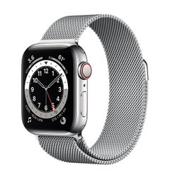 Apple Watch Series 6 (GPS + Cellular) 40mm Silver Stainless Steel Case with Milanese Loop (M02V3)