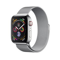 Apple Watch Series 4 (GPS+LTE) 44mm Stainless Steel Case with Milanese Loop (MTV42)