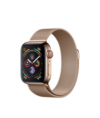 Apple Watch Series 4 (GPS+LTE) 40mm Gold Stainless Steel Case with Gold Milanese Loop (MTUT2)
