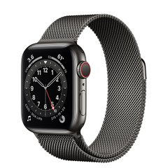 Apple Watch Series 6 (GPS + Cellular) 40mm Graphite Stainless Steel Case with Milanese Loop (MG2U3)