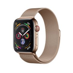Apple Watch Series 4 (GPS+LTE) 44mm Gold Stainless Steel Case with Gold Milanese Loop (MTV82)
