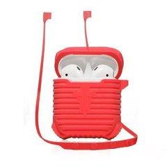 Червоний силіконовий чохол для AirPods COTEetCI Case+line Red (CS8108-RD) 5ab91f625b035