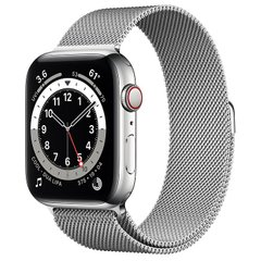 Apple Watch Series 6 (GPS + Cellular) 44mm Silver Stainless Steel Case with Milanese Loop (M07M3/M09E3)